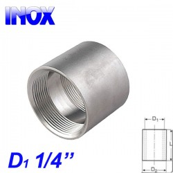 "INOX 304 Μούφα 1/4"""