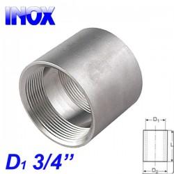 "INOX 304 Μούφα 3/4"""