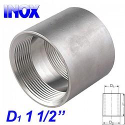 "INOX 304 Μούφα 1 1/2"""