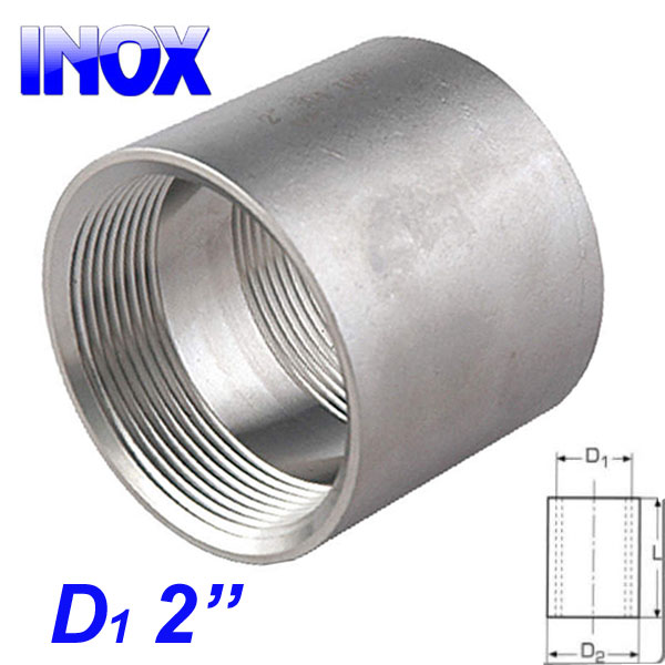 "INOX 304 Μούφα 2"""