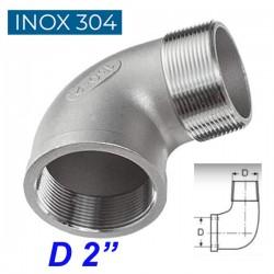 """INOX 304 Γωνία 90ο αρσενική -θηλυκή 2"""""""