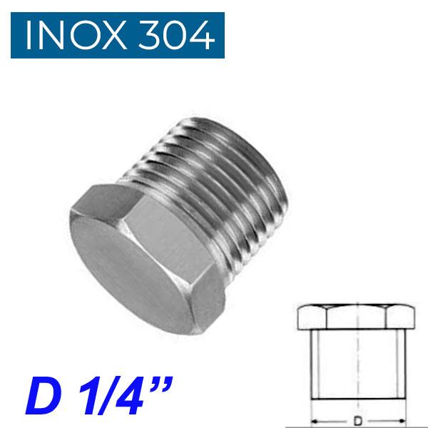 "INOX 304 Τάπα αρσενική 1/4"""