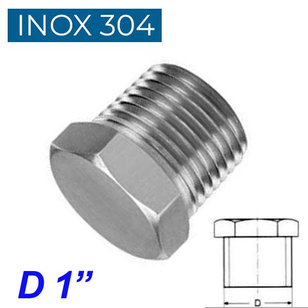 "INOX 304 Τάπα αρσενική 1"""