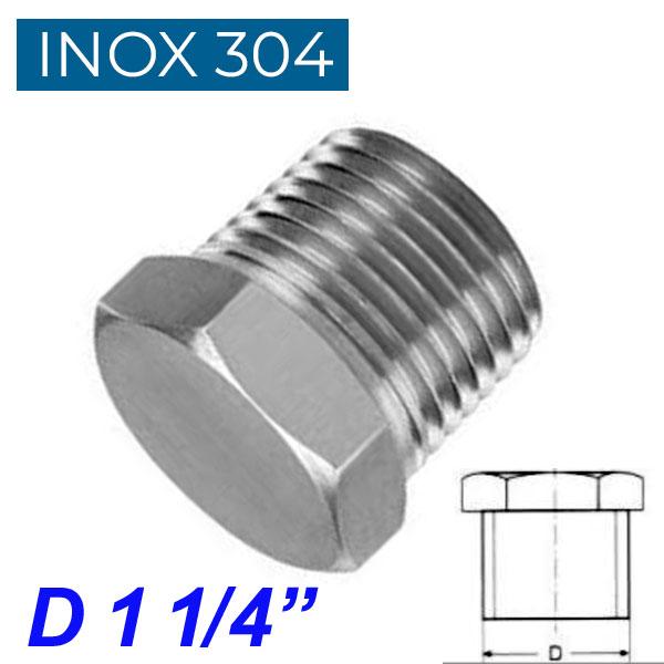 "INOX 304 Τάπα αρσενική 1 1/4"""