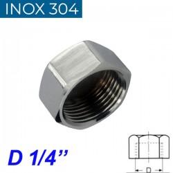 "INOX 304 Τάπα θηλυκή 1/4"""
