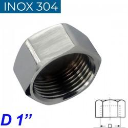 "INOX 304 Τάπα θηλυκή 1"""