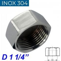 "INOX 304 Τάπα θηλυκή 1 1/4"""