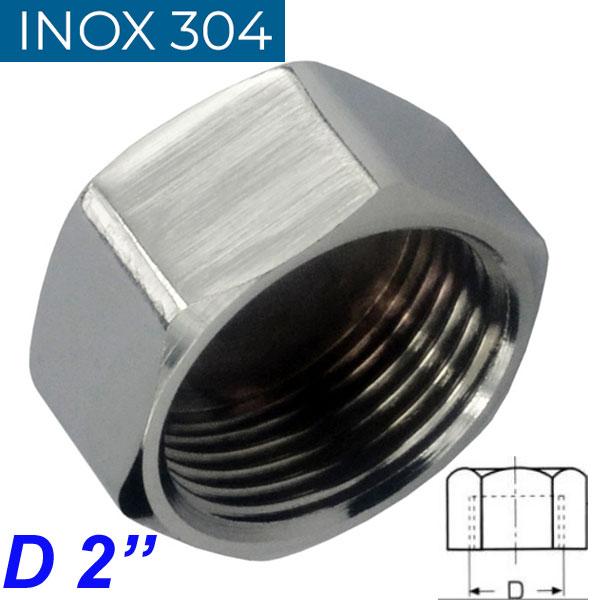 "INOX 304 Τάπα θηλυκή 2"""