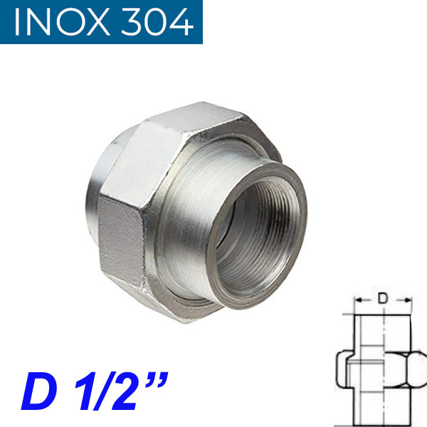 """INOX 304 Ρακόρ 1/2"""""""