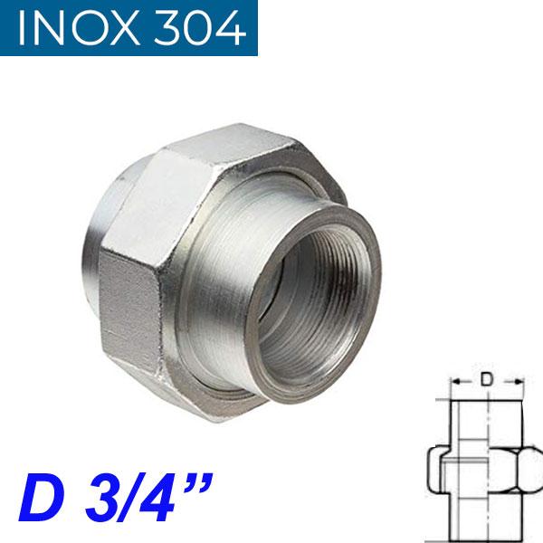 """INOX 304 Ρακόρ 3/4"""""""