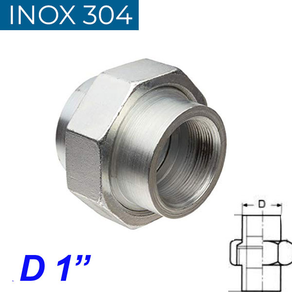 """INOX 304 Ρακόρ 1"""""""