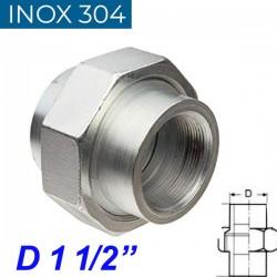 """INOX 304 Ρακόρ 1 1/2"""""""