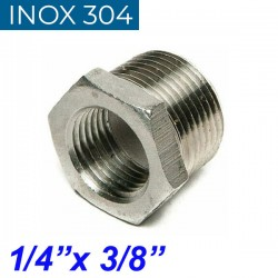 "INOX 304 Συστολή Αμερικής 1/4"" Χ 3/8"""