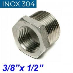 "INOX 304 Συστολή Αμερικής 3/8"" Χ 1/2"""