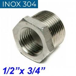 "INOX 304 Συστολή Αμερικής 1/2"" Χ 3/4"""