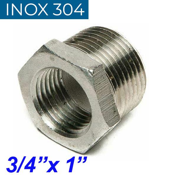 "INOX 304 Συστολή Αμερικής 3/4"" Χ 1"""