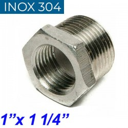 "INOX 304 Συστολή Αμερικής 1"" Χ 1 1/4"""