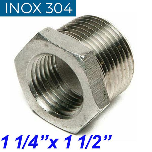 "INOX 304 Συστολή Αμερικής 1 1/4"" Χ 1 1/2"""