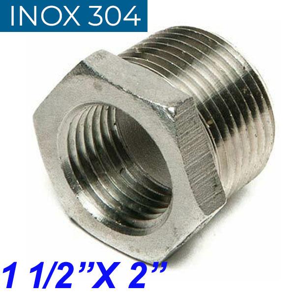 "INOX 304 Συστολή Αμερικής 1 1/2"" Χ 2"""