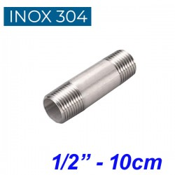 "INOX 304 Σωληνομαστός 1/2"" -10cm"