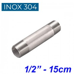 "INOX 304 Σωληνομαστός 1/2"" -15cm"