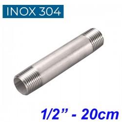 "INOX 304 Σωληνομαστός 1/2"" -20cm"