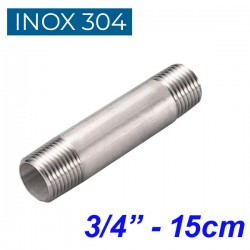 "INOX 304 Σωληνομαστός 3/4"" -15cm"