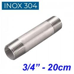 "INOX 304 Σωληνομαστός 3/4"" -20cm"