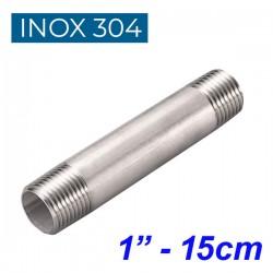 "INOX 304 Σωληνομαστός 1"" - 15cm"