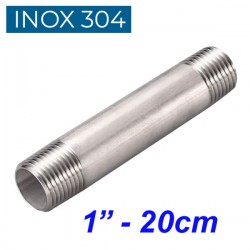 "INOX 304 Σωληνομαστός 1"" - 20cm"