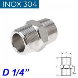 "INOX 304 Νίπελ 1/4"""