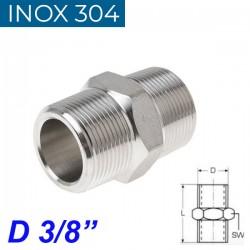 "INOX 304 Νίπελ 3/8"""