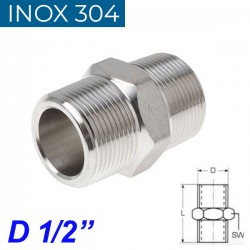 "INOX 304 Νίπελ 1/2"""