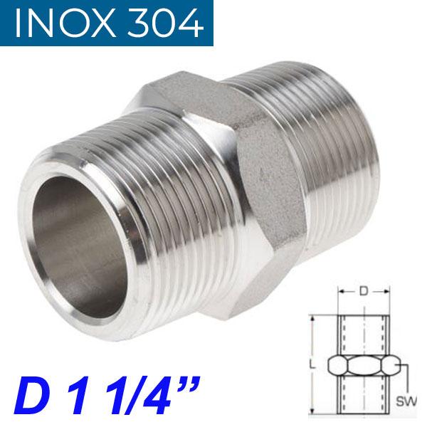 "INOX 304 Νίπελ 1 1/4"""