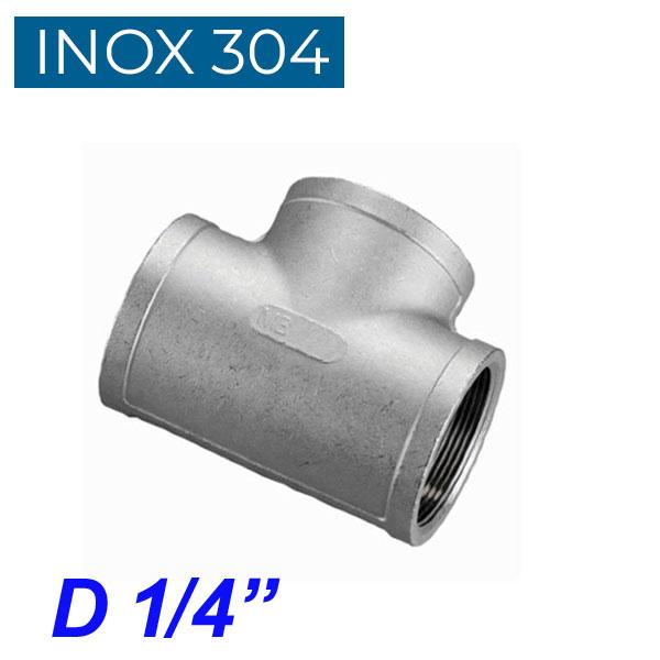 """INOX 304 Ταυ θηλυκό 1/4"""""""