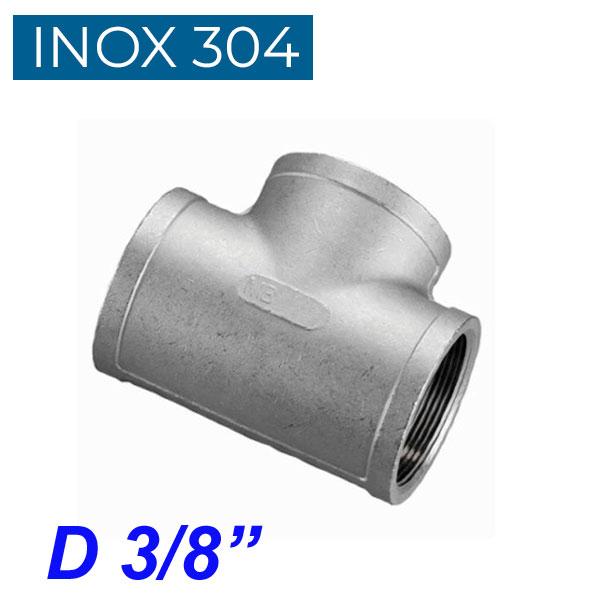 """INOX 304 Ταυ θηλυκό 3/8"""""""
