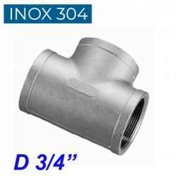 """INOX 304 Ταυ θηλυκό 3/4"""""""