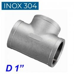 """INOX 304 Ταυ θηλυκό 1"""""""