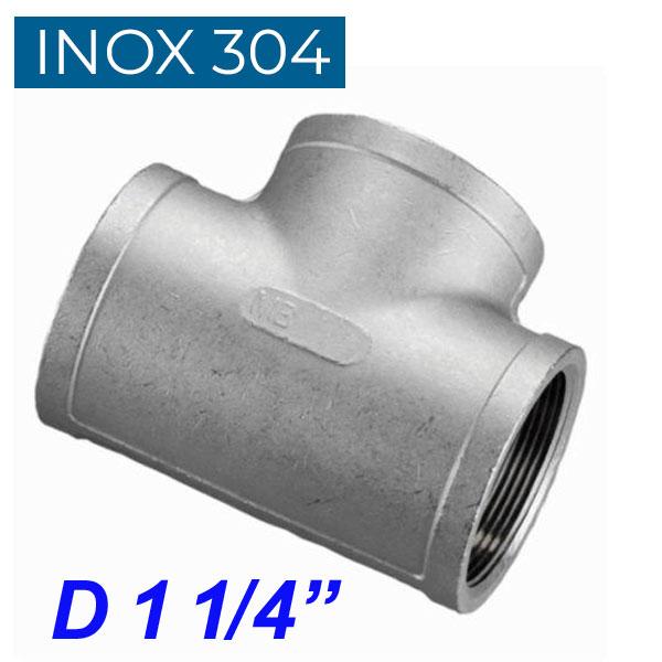 """INOX 304 Ταυ θηλυκό 1 1/4"""""""
