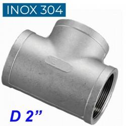 """INOX 304 Ταυ θηλυκό 2"""""""