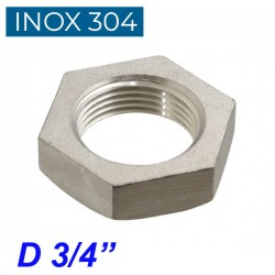 "INOX 304 Παξιμάδι 3/4"""