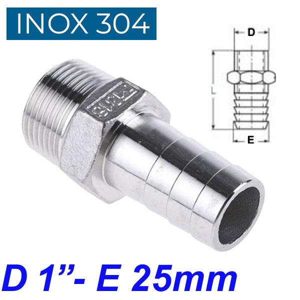 "INOX 304 Ακροσωλήνιο 1"""