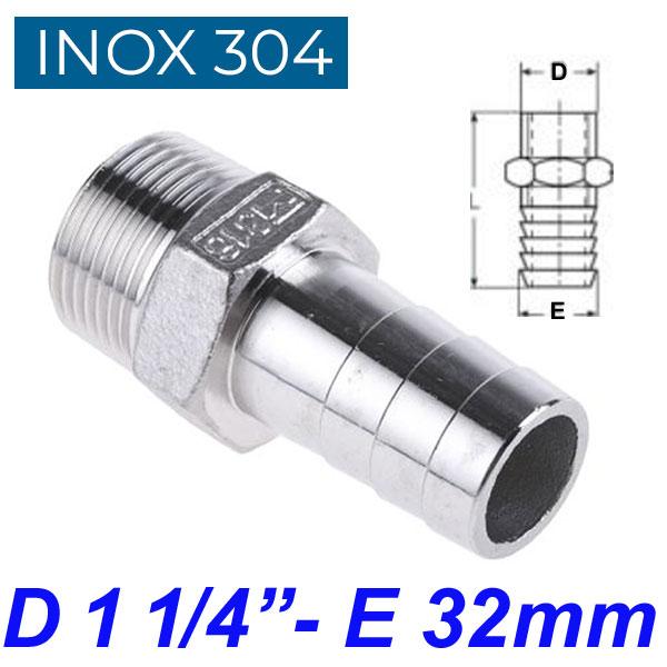 "INOX 304 Ακροσωλήνιο 1 1/4"""