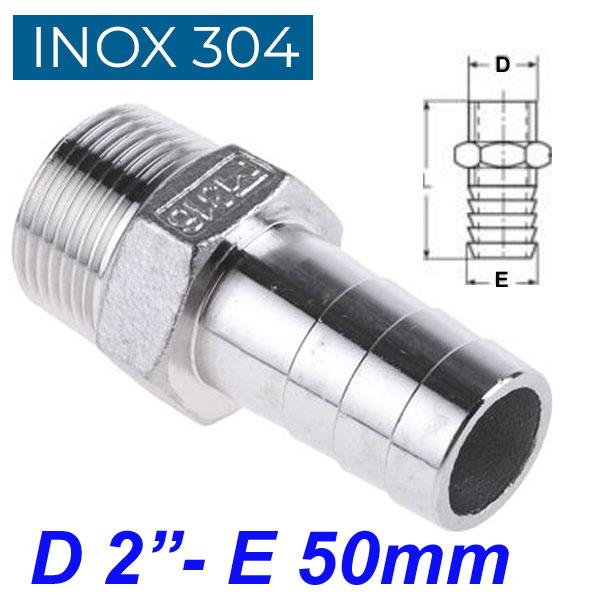 "INOX 304 Ακροσωλήνιο 2"""