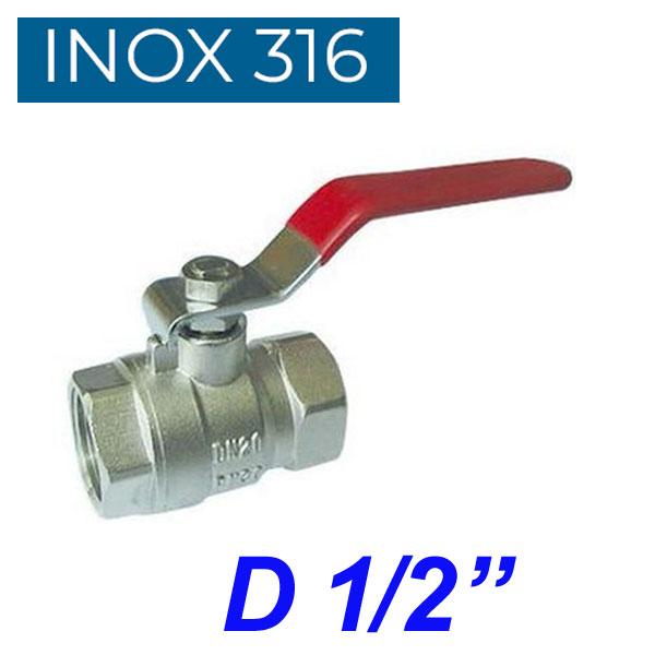 "INOX 316 Βάνα 1/2"""