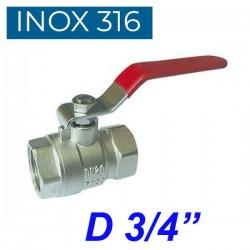 "INOX 316 Βάνα 3/4"""