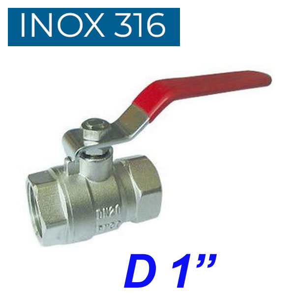 "INOX 316 Βάνα 1"""