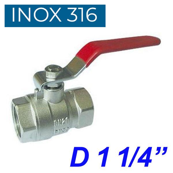 "INOX 316 Βάνα 1 1/4"""