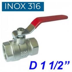 "INOX 316 Βάνα 1 1/2"""