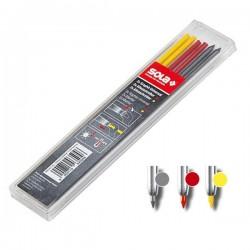 SOLA TLM EM F ανταλλακτικά μηχανικού μολυβιού κόκκινο-κίτρινο-γκρι (6 τεμ.)